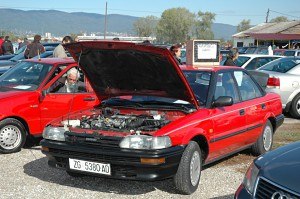 Flea Market in Zagreb: Cars for Sale