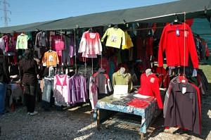 Flea Market in Zagreb: Clothes for Sale