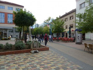 Main Shopping Street in Bihac