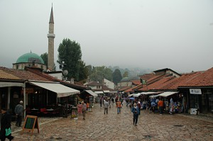 The Turkish part of the old town of Sarajevo
