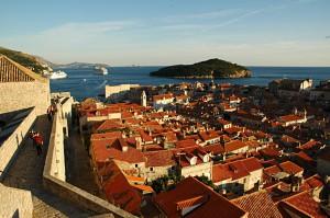 Die roten Dächer von Dubrovnik