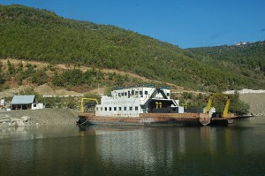 The ferry on Komanit lake