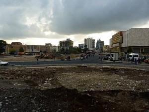 Construction site Skenderbeg square in Tirana