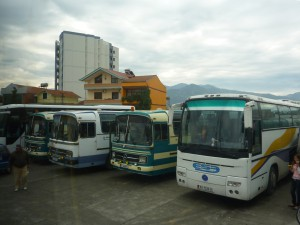 Central bus station in Elbasan