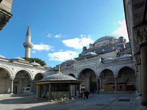 Der Innenhof der Beyazit Moschee