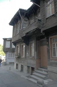 Traditionelle osmanische Holzhäuser in Istanbul