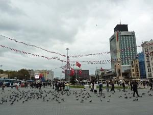 Der Taksim Platz am türkischen Nationalfeiertag