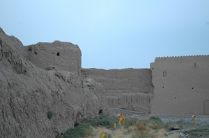 Kashan's old city wall