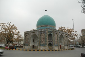 The Gonbad-e Sabz mosque in Mashhad