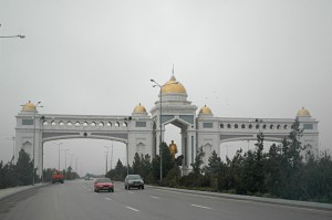 Modern gate of Ashgabat