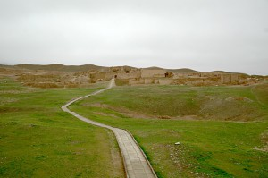 The mud-brick castle of Nisa