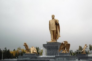 Turkmenbashi, father of all Turkmen in gold