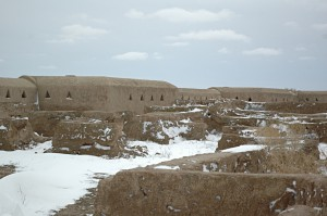 The fortress of Gonur Tepe in the snow