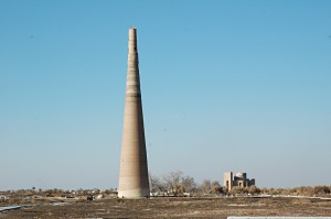 The tallest minaret in Central Asia at Konye-Urgench