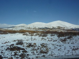 Schnee in der Osttürkei