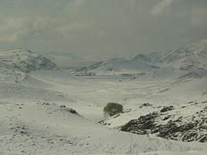 Verschneite Landschaft im Norden Irans
