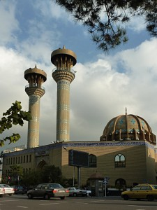 Mosque in Tehran: oriental architecture