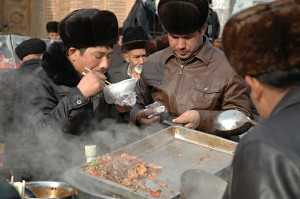 Friday after prayer: Hungry men