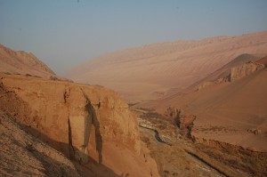 The Flaming Mountains on the way to the Bezeklik caves