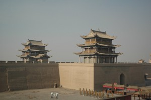 The high walls of the impregnable fort of Jiayuguan