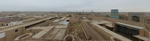 The old town of Khiva from above