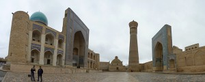 Mir-i Arab medressa and Kalon minaret and mosque