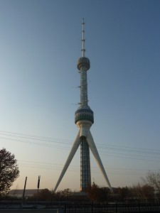 The television tower in the North of Tashkent