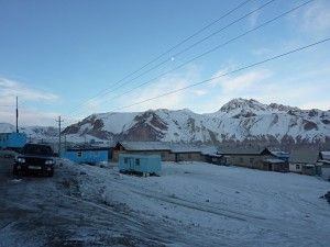 Freezing cold morning in Irkeshtam