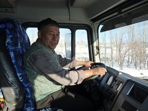 A nice Uzbek truck driver