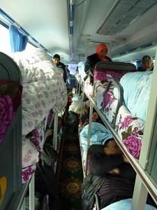 Sleeper bus: No room to move