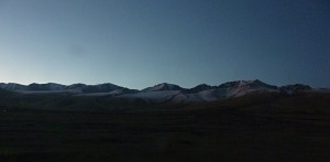 Sunrise between Korla and Turpan