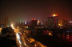 Xining by night on new year's eve