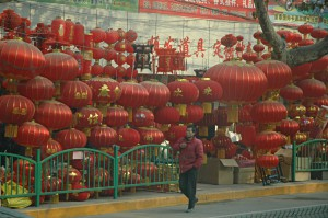 Shopping for Chinese new year