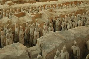 Terracotta warriors: warriors in pit 1