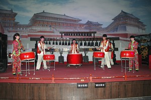 Performance in the Drum Tower of Xian
