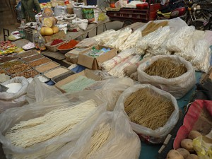 Shopping in Lanzhou: noodles