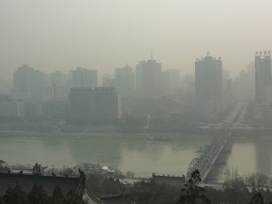 Lanzhou in the haze