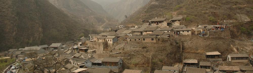 Das Bergdorf 川底下 80km westlich von Beijing