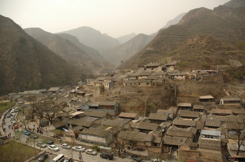 The mountain village of  川åºoä¸< 80km west of Beijing