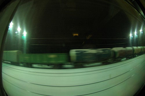 Train ride through the night...