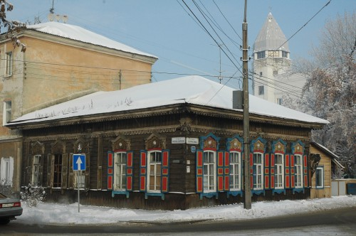 Traditionelles Holzhaus in Irkutsk