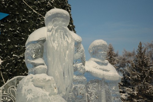 Father Frost on Kirov Square
