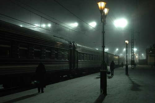 Eerie Atmosphere in Irkutsk in the Early Morning Hours