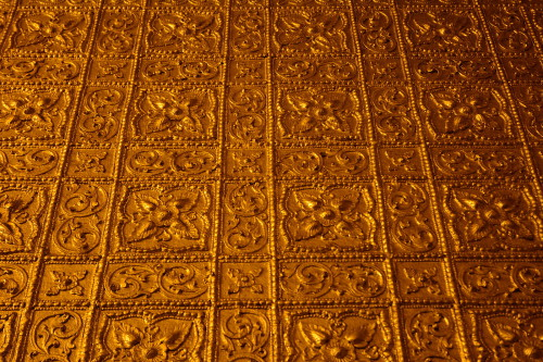 The Golden walls of the Botathaung Paya in Yangon