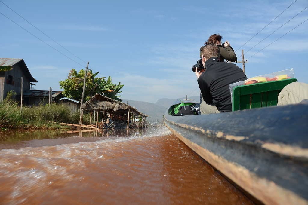 Means of transport #1 at Inle Lake to reach the trail head near Inthein