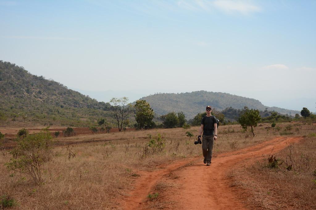 Swiss hiker on fertile Myanmar soil