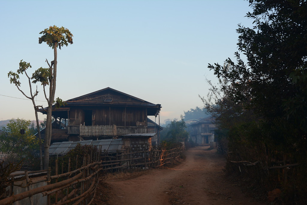 Early morning in Myanmar's country side