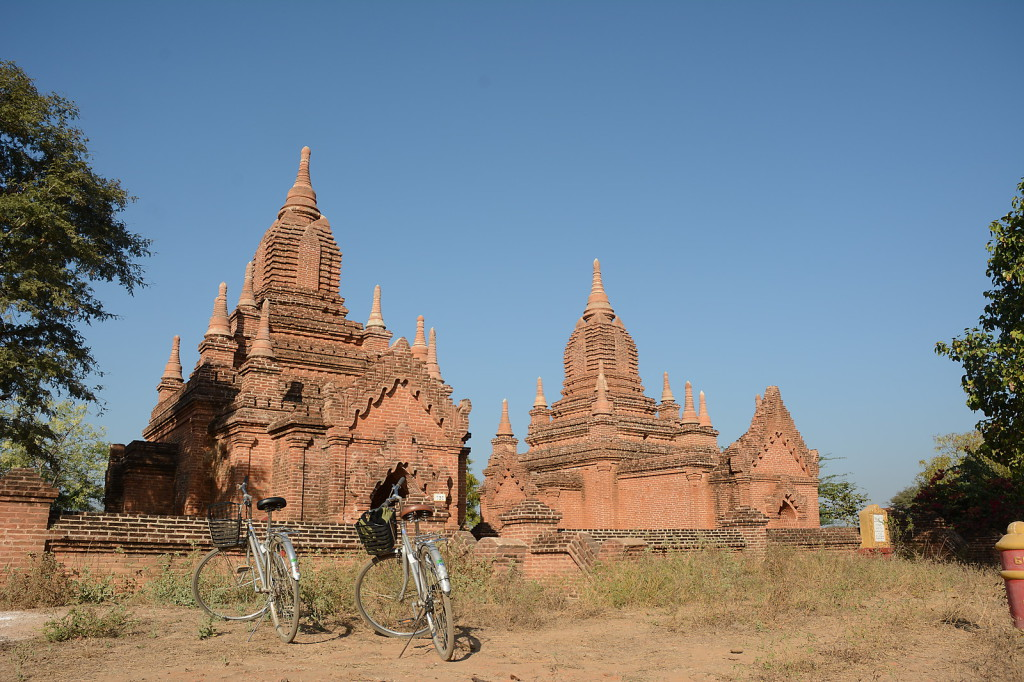 Convenient mode of transport around Bagan: Bicycles