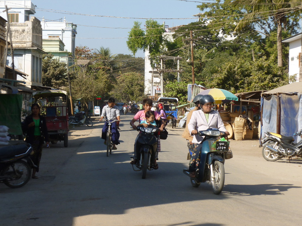 The streets of Monywa
