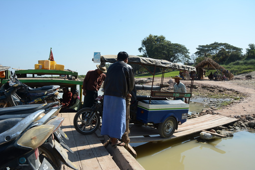 ...but the made an exception for a trishaw carrying two foreigners and a monk